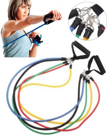 $27 for an 11-Piece Fitness Resistance Bands Set OR $52 for 2