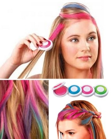 $14 for an Easy-To-Use 4 Colour Set of Press 'N' Slide Hair Chalk