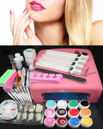 $49 for a 52-Piece Professional at Home Nail Kit with UV Lamp OR $95 for 2
