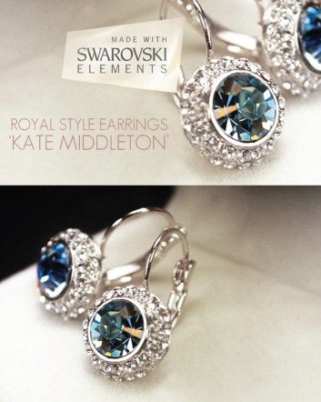 $12 for a Pair of 18K Yellow Gold or Sterling Silver Plated Kate Middleton Inspired Earrings Made...