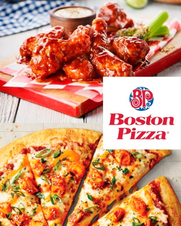 $20 for $40 Worth of Fully Loaded Pizza, Pasta, Burgers, and More at Boston Pizza - Valid at...