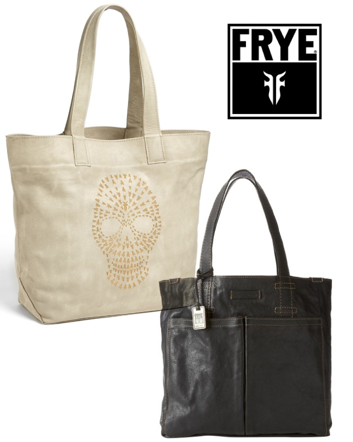 $179 for Frye Skull Tote OR $269 for a Frye Artisan Pocket Tote Bag