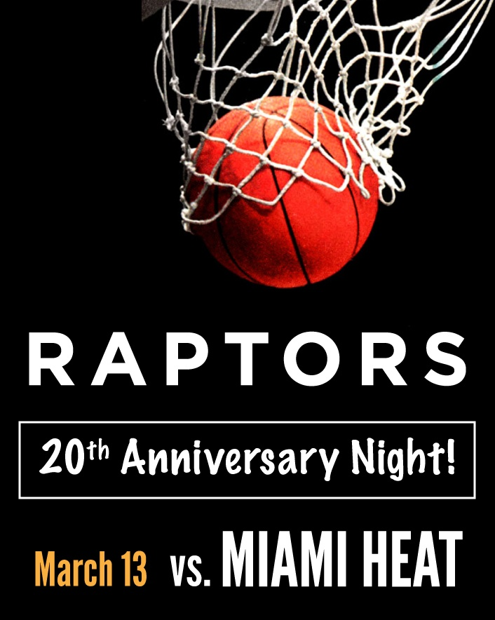 $79 and Up for Tickets to the Toronto Raptors vs. Miami Heat Game on March 13, Celebrating the...