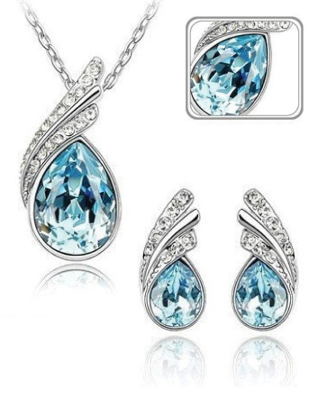 $15 for a White Gold Plated Swarovski Wings Necklace & Earrings Set