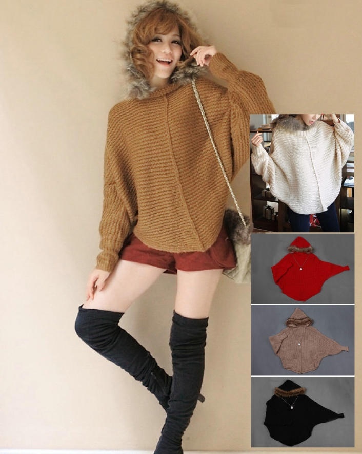 $35 for a Loose Sweater Cape, Available in 4 Colours