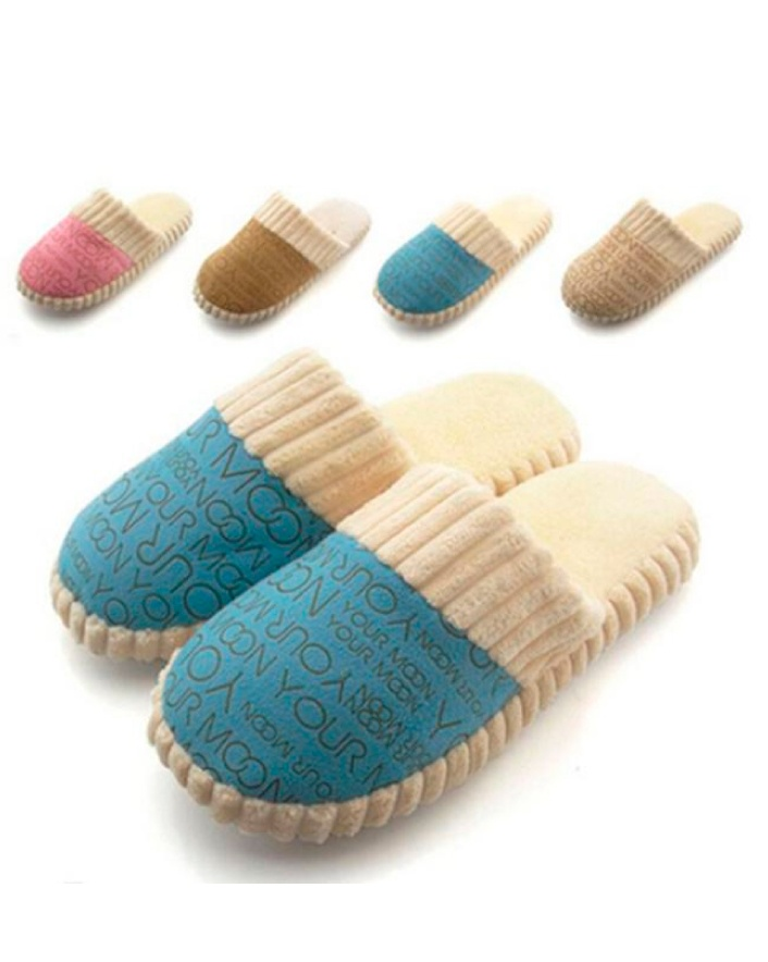 $12 for a Pair of Cotton-Padded Slippers, Choose from 4 Colours
