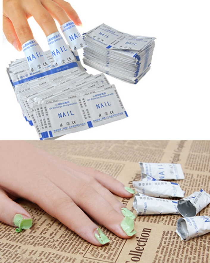 $14 for a 50 Piece UV/Gel Polish Remover Wrap Set