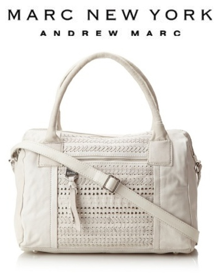 $139 for a Marc New York Sophie Embellished White Leather Satchel