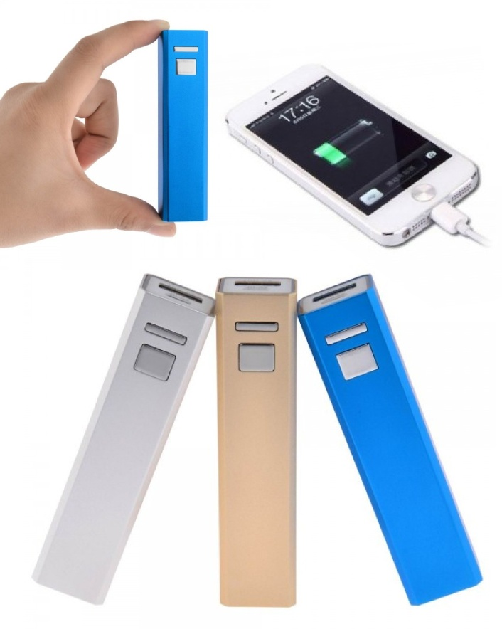 $15 for a Pocket-Size 2200mAh Aluminum Power Bank, Choose from 3 Colours