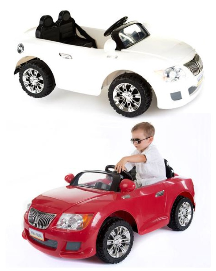 $159 for a 12-Volt Battery-Powered Convertible Ride-On Car for Kids - Available in 2 Colours!