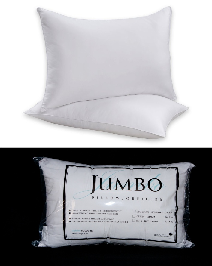 $10 & Up for Hypoallergenic  Pillow, Choose from 3 Sizes