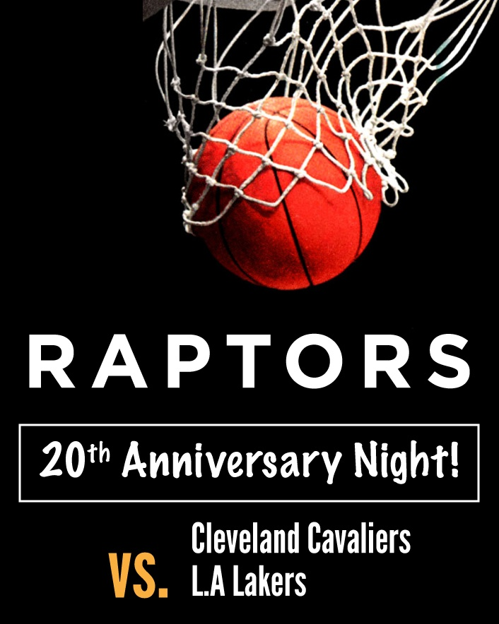 $105 and Up for Tickets to the Toronto Raptors vs. Cleveland Cavaliers OR vs. LA Lakers at the...