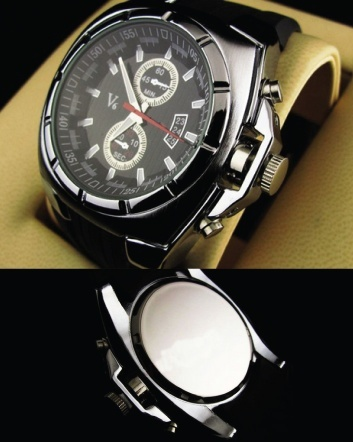 $15 for a Men's V6 Quartz Round Dial Watch