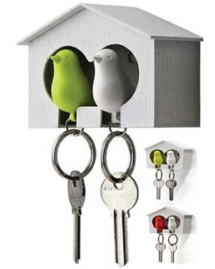 $7 for a Duo Sparrow Key Holder with Bird House or $11 for 2