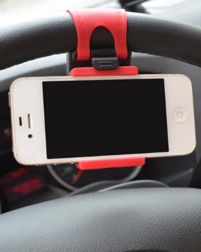 $7.00 For A Universal Steering Wheel Phone Mount or $11.00 For 2