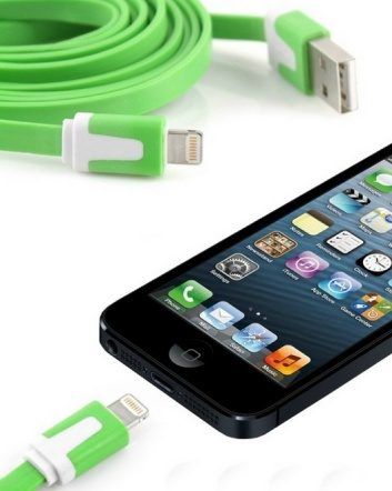 $7 for a 10 Ft. Fettuccine iPhone 5 or 6 Cable or $11.00 for 2, Choose from 6 Colours
