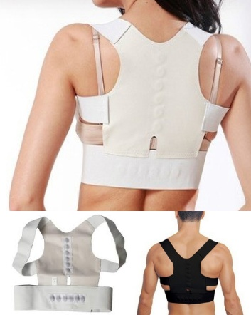 $9 for a Shoulder and Back Posture Support with Magnets OR $16 for 2 - Choose from 2 Colours!