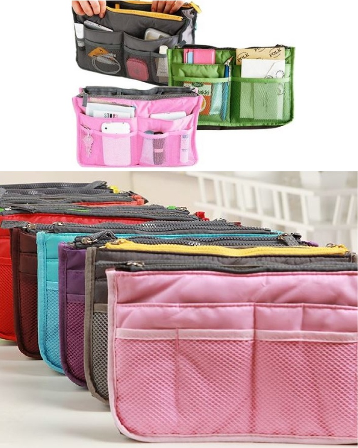 $12 for a 2-Pack: 13 Pocket Handbag Organizer, Choose from 6 Colours