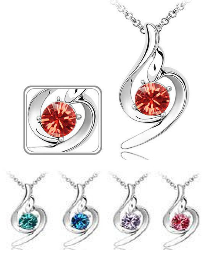 $7 for a Zodiac Single Stone Pendant & Necklace Set OR $11 for 2 - Choose Your Birthstone Colour!