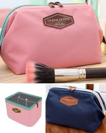$8 for a Travel Cosmetic Bag - Choose from 2 Colours!
