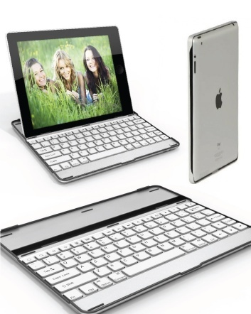 $24 for an Ultrathin Aluminum iPad 2, 3 or 4 Case with Integrated Bluetooth Keyboard