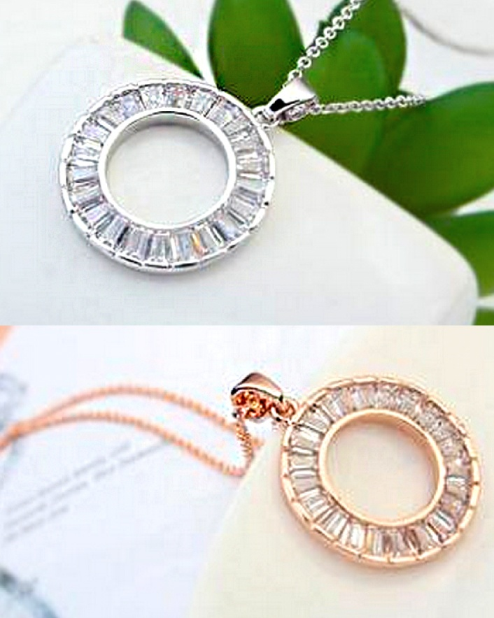 $15 for a Circle of Life Crystal Necklace With Swarovski Elements, Choose from 3 Colours