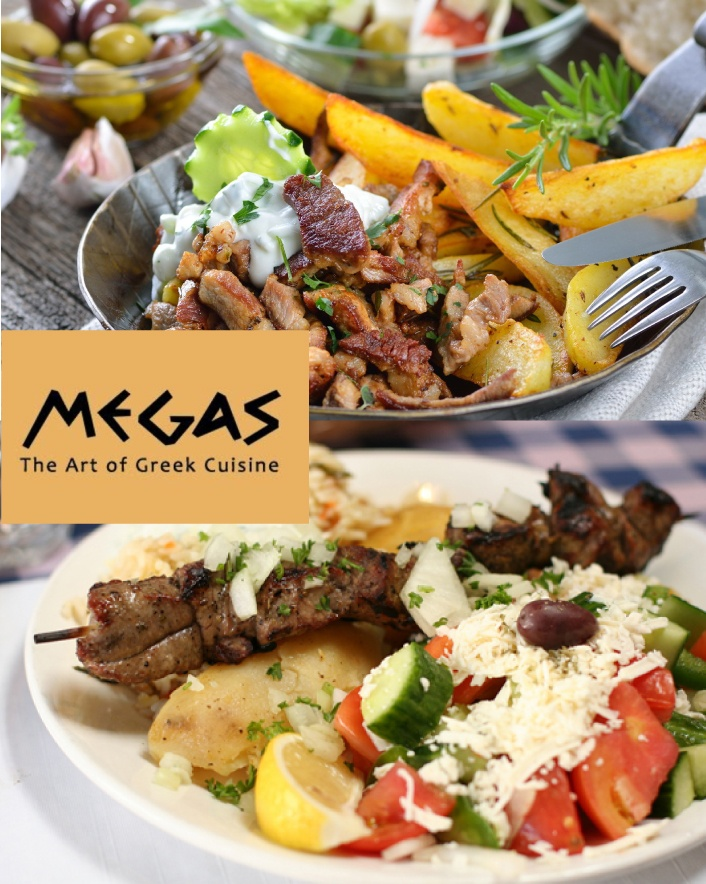$45 for a 5-Course Prix Fixe Megalicious Greek Feast for 2 including a Half Litre of House Wine