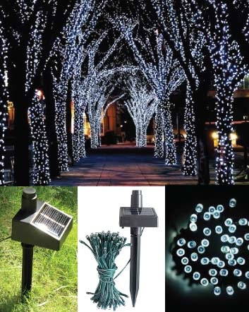 (was $39) NOW $19.99  for a 17 Metre 100 LED Solar Fairy Light Set