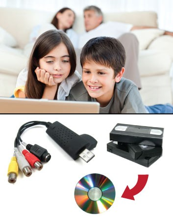 (was $19) NOW $9.99 for a USB 2.0 VHS to DVD Converter