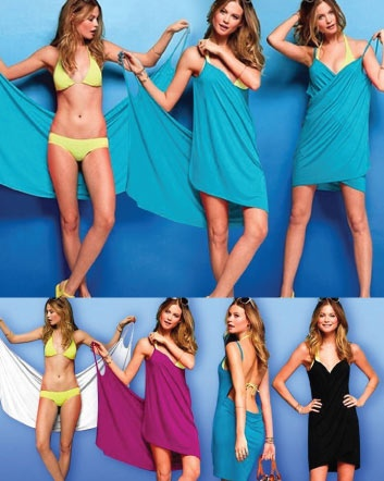 (was $14) NOW $9 for a Bikini Wrap Dress in 4 Colours