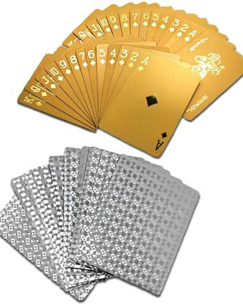 (was $14) NOW $9 for a Pack of 24K Gold Plated or Silver Plated Playing Cards