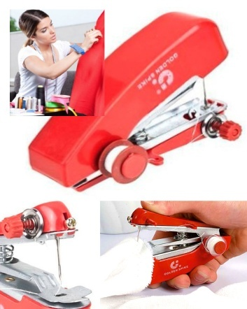 (was $6) NOW $4 for a Portable Cordless Mini Handheld Sewing Machine