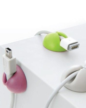 (was $5) NOW $3 for 6 Cable Holders in 3 Assorted Colours