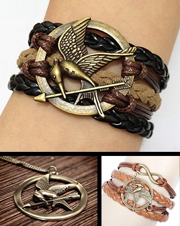 (was $19) NOW $9 for a Mockingjay Bracelet in Dark Brown