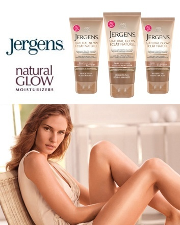 (was $9) Now $6 for Three 150mL Jergens Natural Glow Daily Moisturizers in Medium to Tan - Lasts...
