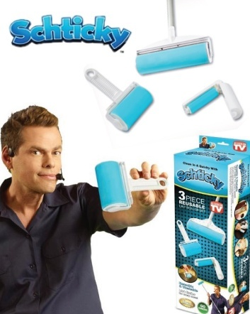 (Was$12) Now $9 for the Original Schticky Reusable Lint Roller Set - AS SEEN ON TV - SEE VIDEO...