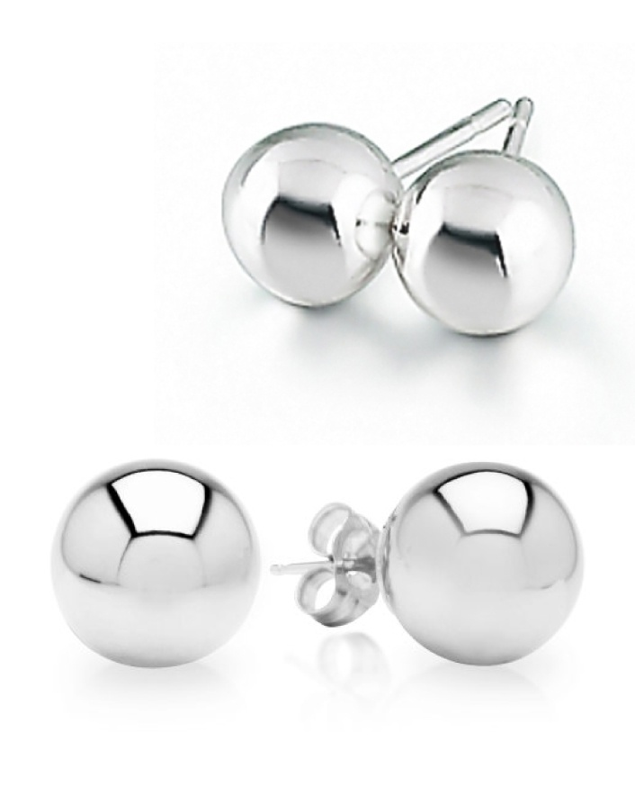 (Was $9) NOW $4 for a Pair of Silver Beaded Earrings