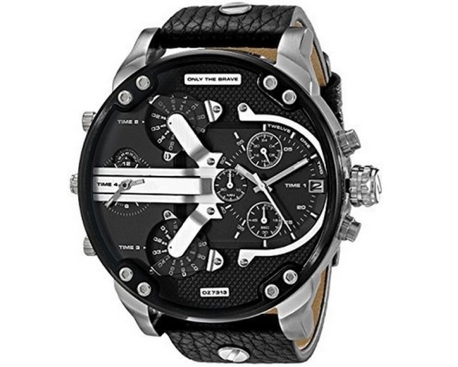 29 for a diesel 3 bar inspired men 39 s wristwatch buytopia. Black Bedroom Furniture Sets. Home Design Ideas