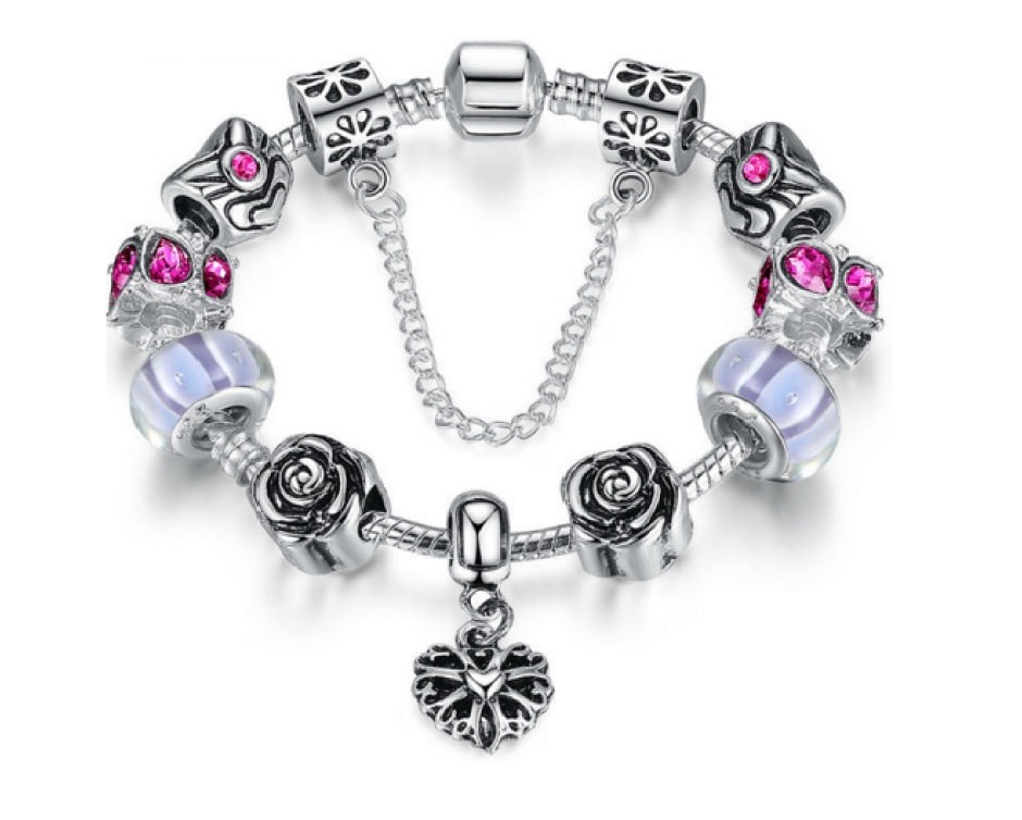 13 for a pandora inspired charm bracelet with assorted