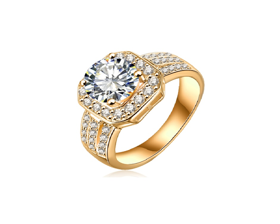 $5 for a 22 Karat Plated Diamond Halo Ring