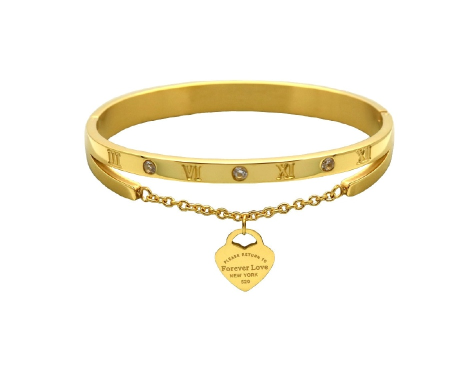 9 for a cartier inspired 14k gold silver plated bracelet