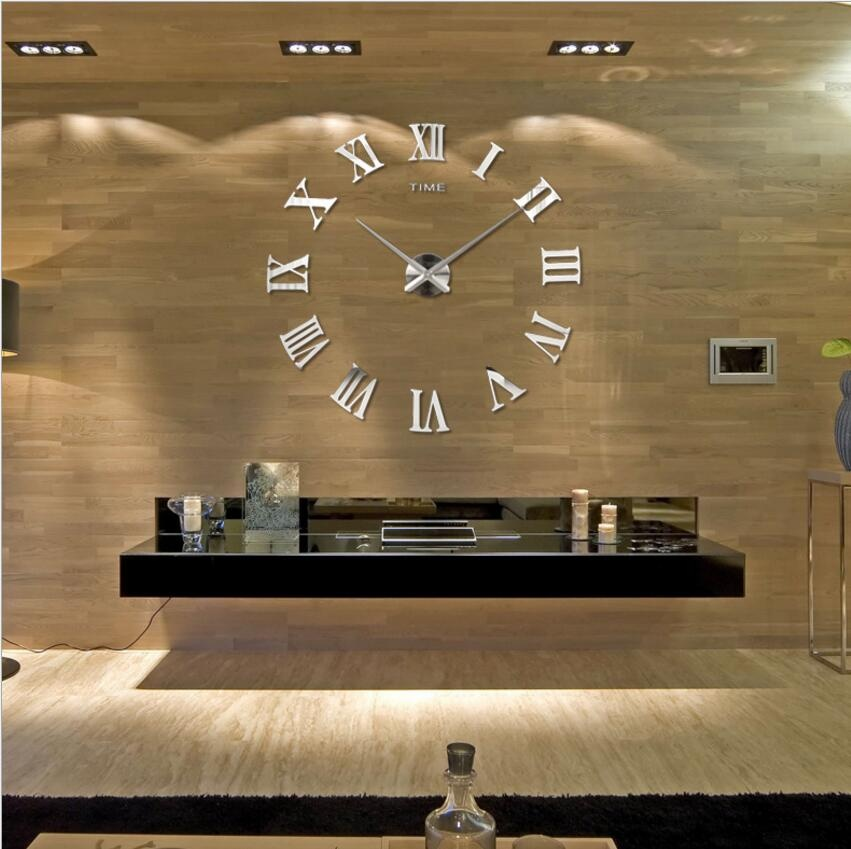 for a large diy mirror wall clock. Black Bedroom Furniture Sets. Home Design Ideas